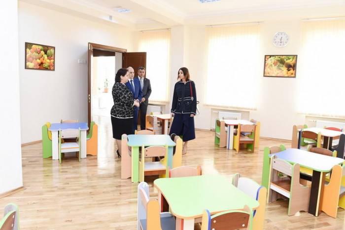 First VP Mehriban Aliyeva attends opening of nursery-kindergarten in Narimanov after overhaul
