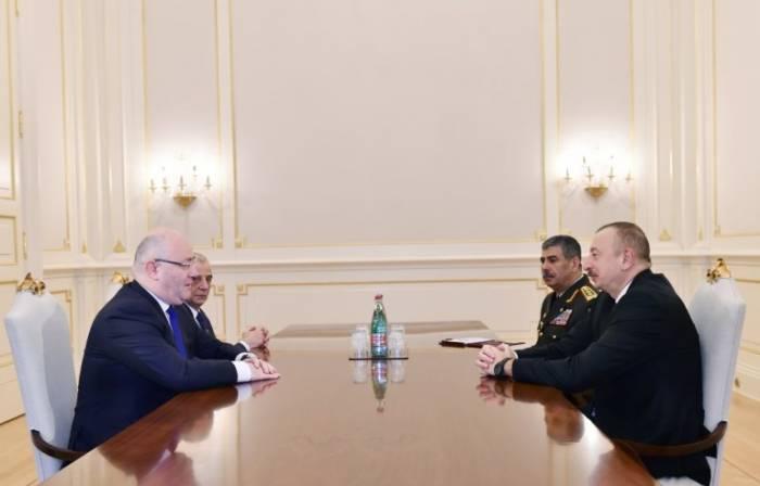 Azerbaijani president receives Georgian Defense Minister