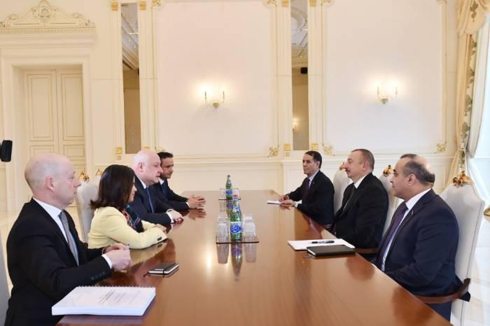 Ilham Aliyev reçoitle président de l
