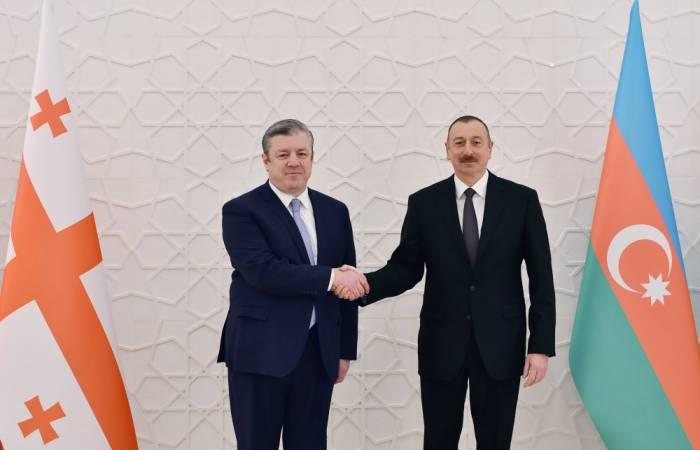 Prezident Gürcüstanın Baş nazirini qəbul edib - Yenilənib (FOTOLAR)