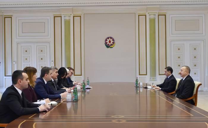 Le président azerbaïdjanais reçoit une délégation monténégrine