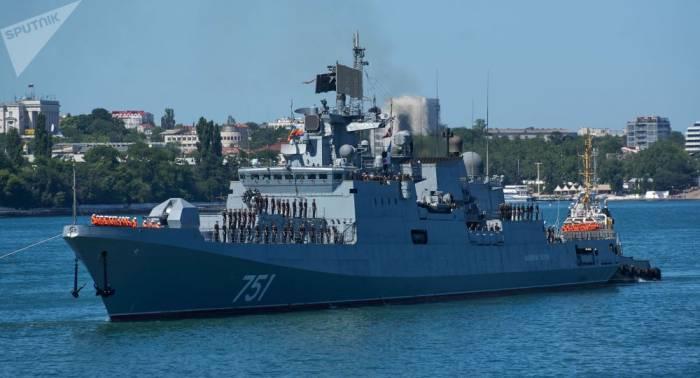 Kalibr-Raketen an Bord: Russische Fregatte nimmt Kurs aufs Mittelmeer