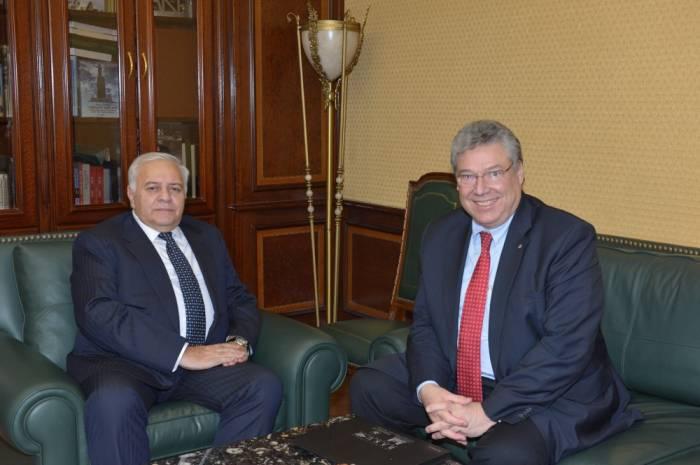 Le président du Parlement azerbaïdjanais rencontreFilippo Lombardi