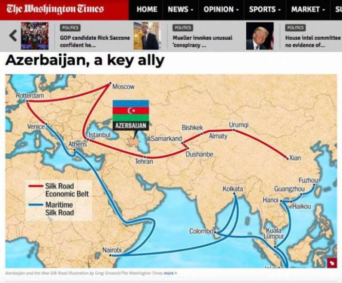 The Washington Times: Azerbaiyán es un aliado clave