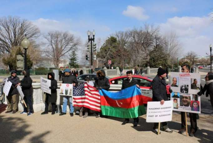 Protest action against Sahakyan held in US - PHOTOS