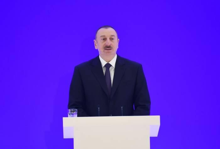 """""""Cümhuriyyətin qurucuları Azərbaycanı görsələr, fəxr edərdilər"""" - İlham Əliyev"""