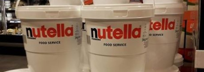 Nutella-Eimer sorgt für Wirbel