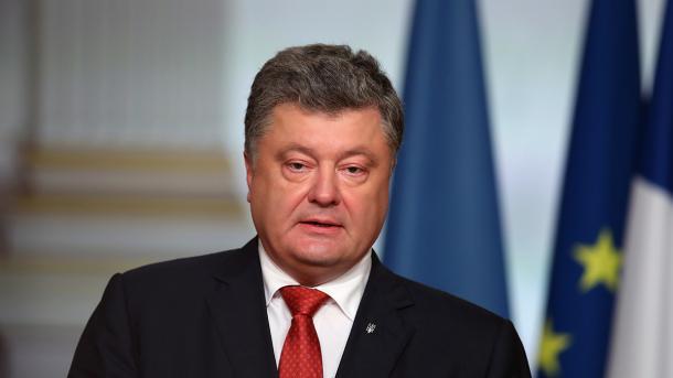 Poroschenko bittet Bundesregierung um Einsatz für Blauhelmmission