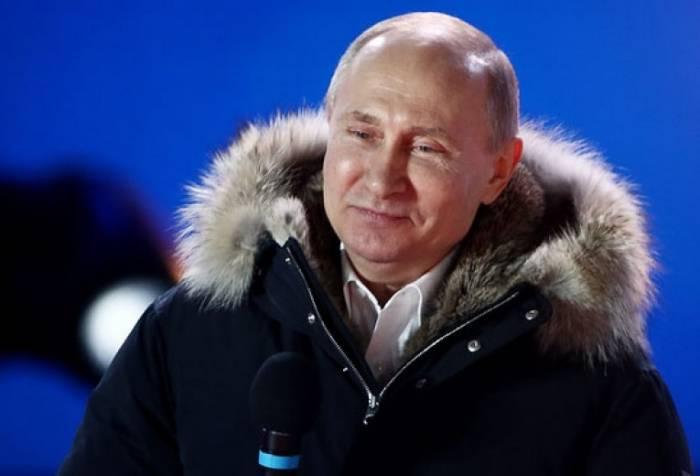 Putin onu dəstəkləyən seçicilərə təşəkkür etdi