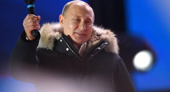 """Putin: """"Wir sind zum Erfolg verdammt"""""""