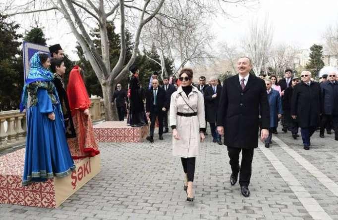 Prezident və xanımı Novruz şənliyində - FOTOLAR (Yenilənib)