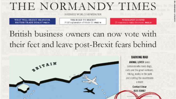 French Brexit ad banned on London