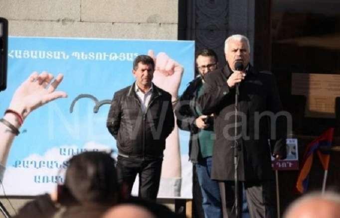 Ermənistan müxalifəti kütləvi mitinqlərə başladı - FOTOLAR