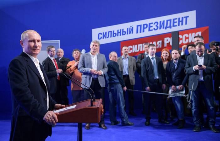 Putinə 56 milyondan çox insan səs verib