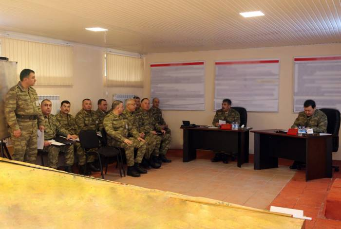 Actions taken on terrain board in course of military drills in Azerbaijan