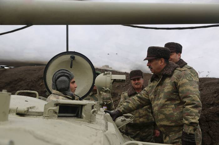 Azerbaijani defense minister observes Armed Forces