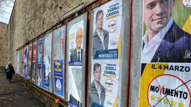 Italy election: Projections point to hung parliament