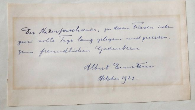Albert Einstein note to young female scientist sells at auction