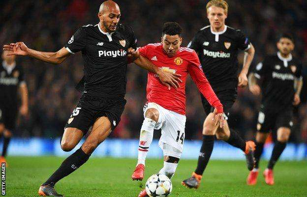 Man Utd out of Champions League after losing to Sevilla