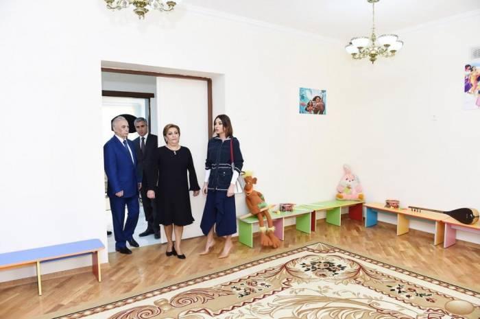 First VP Mehriban Aliyeva attends opening of new nursery-kindergarten in Mashtaga- PHOTOS
