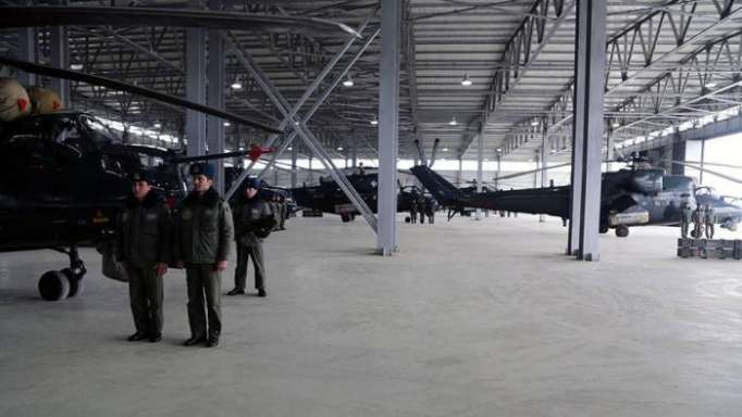 Azerbaijan's defense minister visits new helicopter military unit in frontline zone