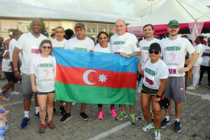 Azerbaijan represented at charity walk in Nigeria