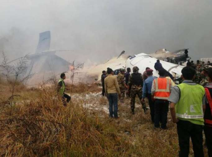 US-Bangla flight carrying 71 crashes near Kathmandu airport,50 killed - UPDATED