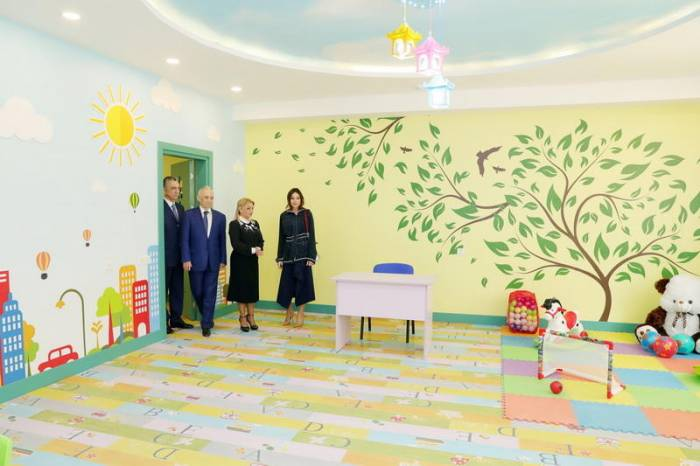 Mehriban Aliyeva attends opening of kindergarten in Sabail district dafter overhaul - PHOTOS