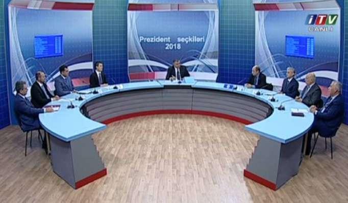 Prezidentliyə namizədlər İTV-də ilk debata çıxdılar