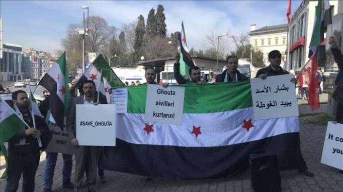 Istanbul: manifestation en soutien à la Ghouta orientale