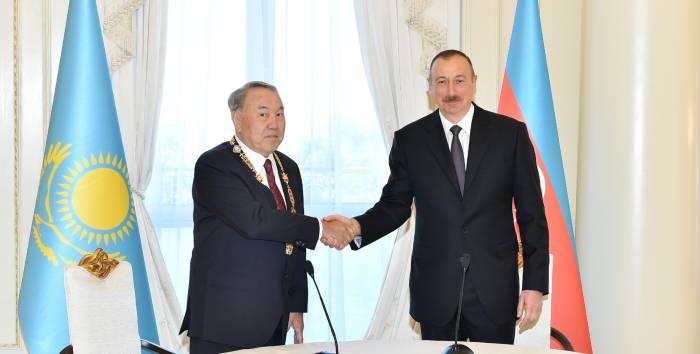 """İlham Əliyev: """"Nazarbayev bizim ağsaqqalımızdır"""" - (VİDEO)"""