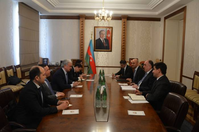 Azerbaijani FM meets with delegation led by SCO Sec-Gen