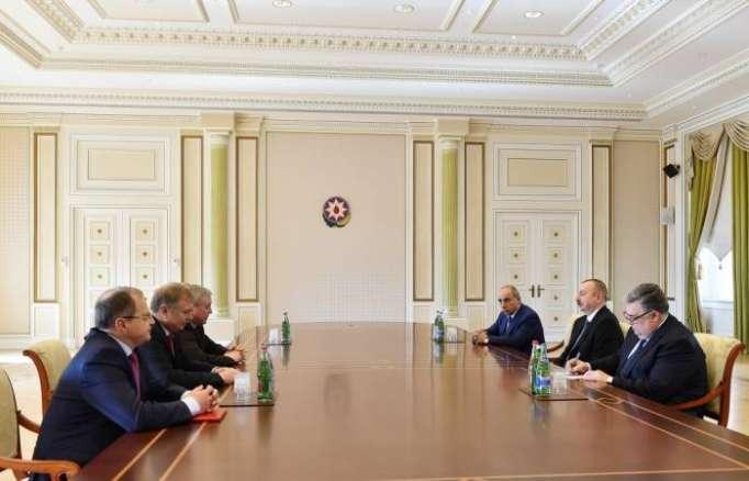 Ilham Aliyev reçoitVladimir Semashko