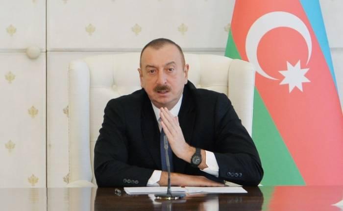 Ilham Aliyev: Legal framework created for settlement of Karabakh conflict