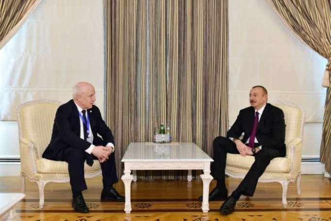Prezident Sergey Lebedevi qəbul edib