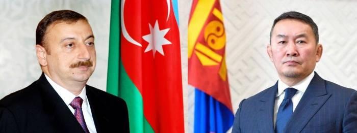 Monqolustan prezidenti İlham Əliyevə zəng edib