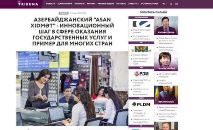 """Moldovanın nüfuzlu agentliyi """"ASAN xidmət""""dən yazdı"""