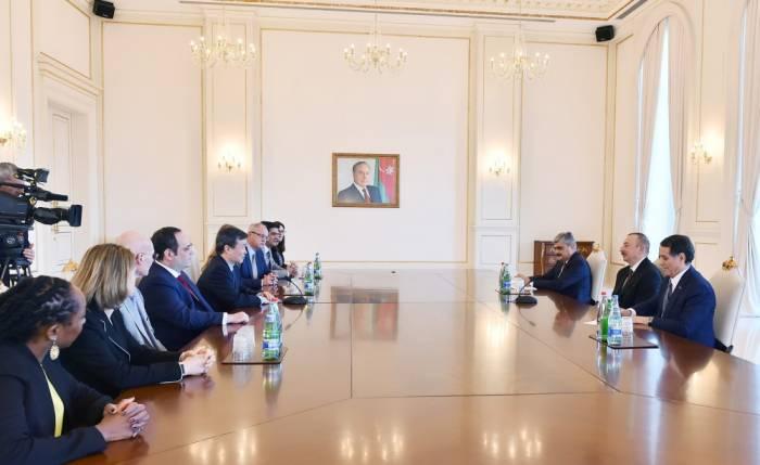 Ilham Aliyev a reçu unedélégation du Bureau international des expositions