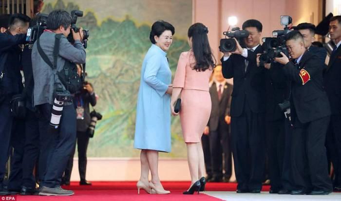 Kim and President Moon