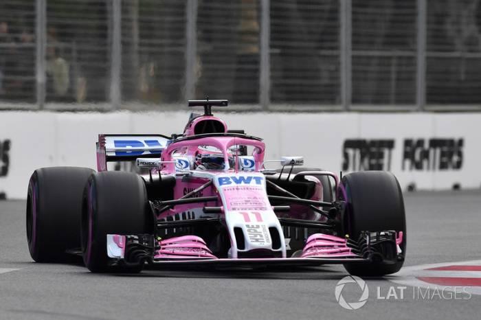 Los pilotos de Renault, sorprendidos por la velocidad de Force India en Bakú