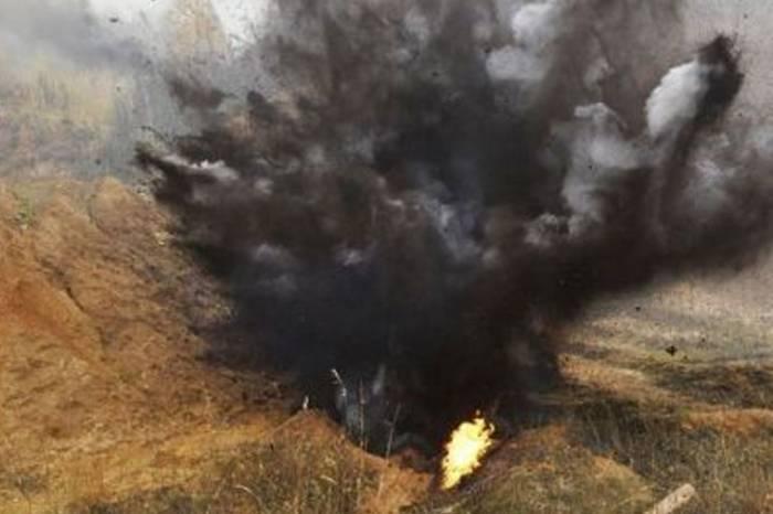 Qarabağda erməni hərbçi minaya düşüb