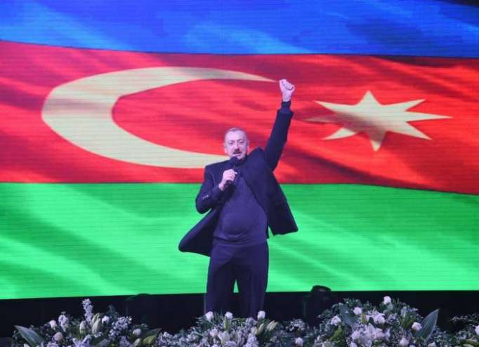 """President Ilham Aliyev: """"No outside force can make us turn from this path"""""""