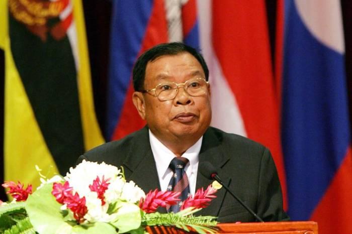 Laosun dövlət başçısı İlham Əliyevi təbrik edib