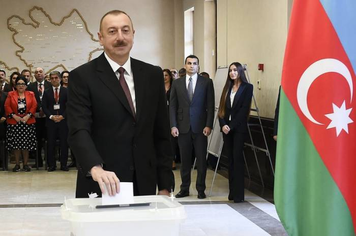 Exit-poll of AJF & Associates Inc.: 85.57% of voters cast ballots for Ilham Aliyev