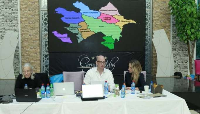 U.S. polling firm AJF holding exit poll at Azerbaijan's presidential election
