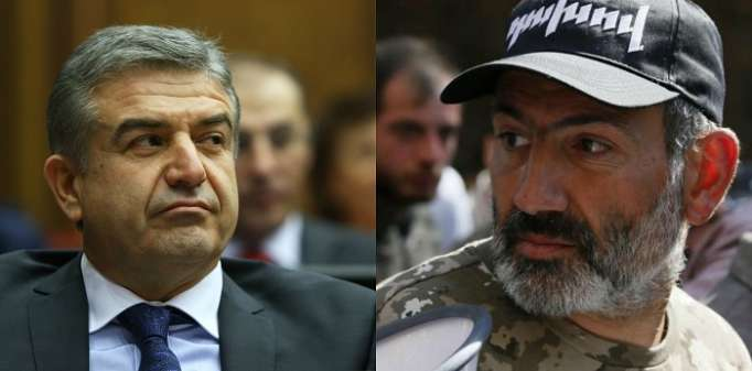 Armenia opposition movement head and party leader tycoon hold talk