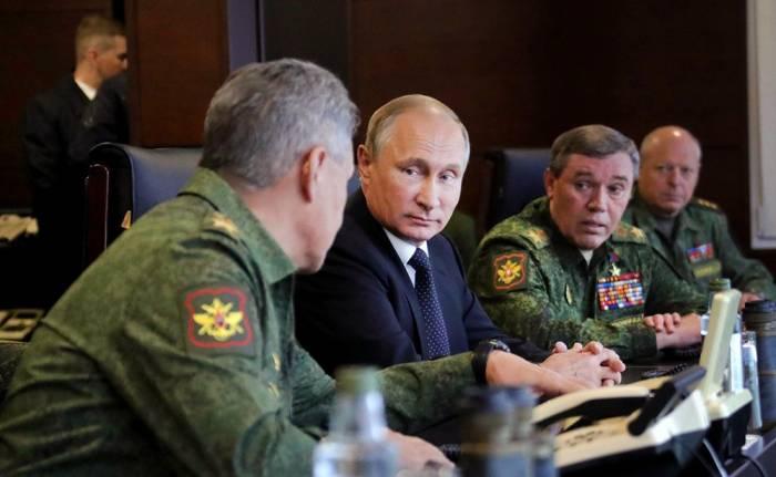 Şoyqu Suriyadakı vəziyyəti Putinə məruzə edir