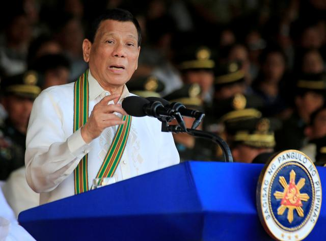 Duterte fires military officials for alleged corruption