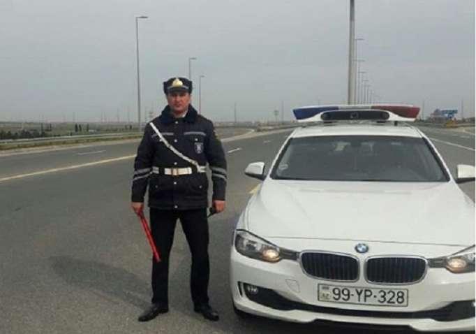 Bakıda yol polisi 23 yaşlı qızın həyatını xilas etdi - FOTO