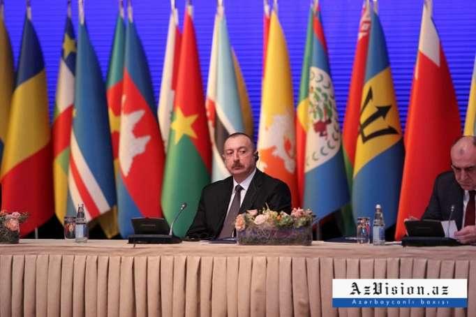 İlham Əliyev nazirlər konfransında - FOTOLAR (Yenilənib)